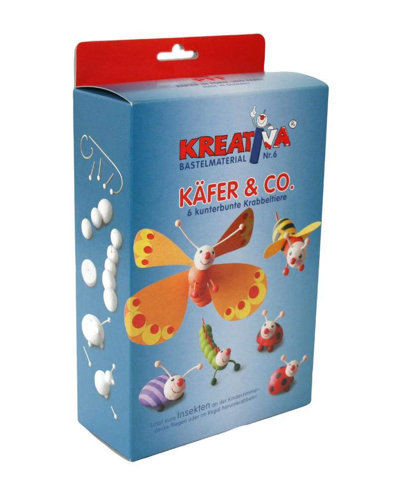 KREATIVA Nr. 6  Käfer & Co. …6 kunterbunte Krabbeltiere Bastelset